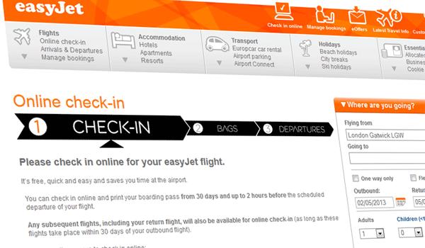Easyjet Website