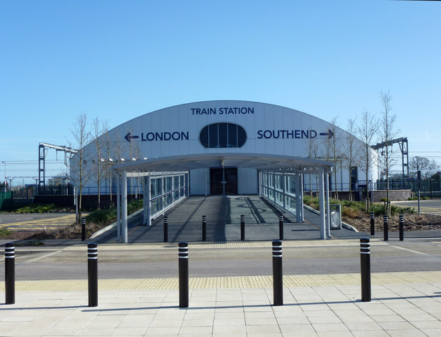 The station is located directly opposite the passenger terminal with a