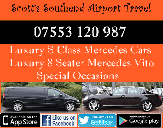 8 seater or s class mercedes rayleigh