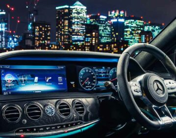 inside the s class chauffeur